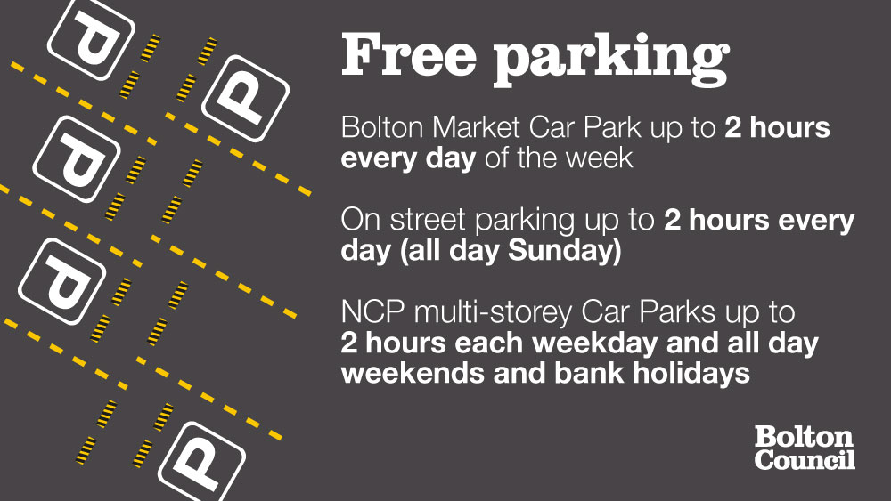 Free parking in Bolton
